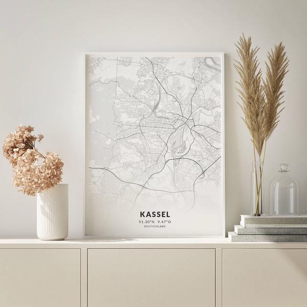 City-Map Kassel im Stil Elegant