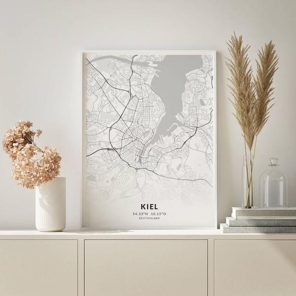 City-Map Kiel im Stil Elegant