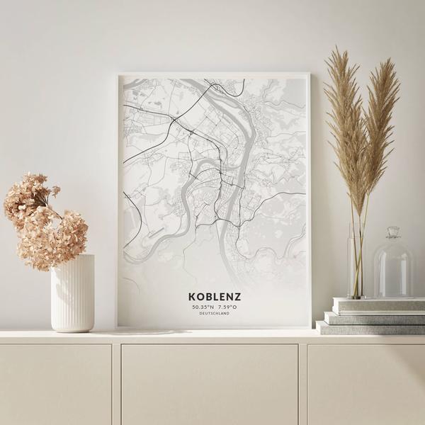 City-Map Koblenz im Stil Elegant