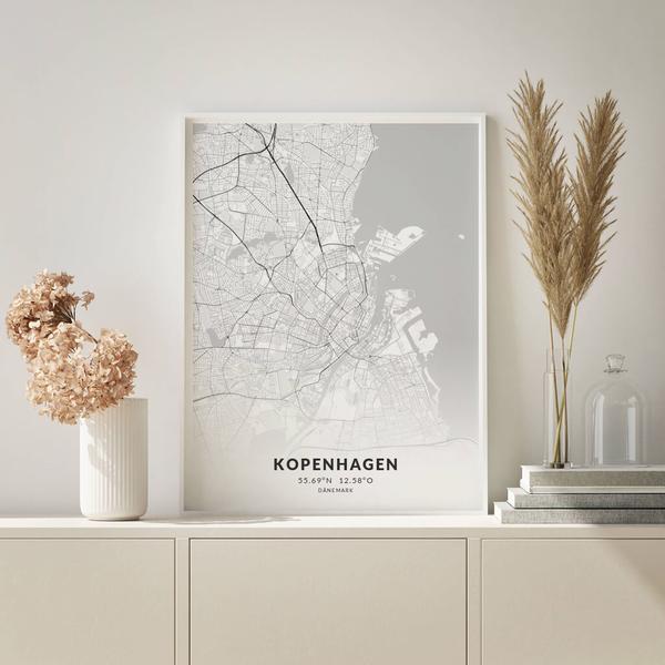 City-Map Kopenhagen im Stil Elegant