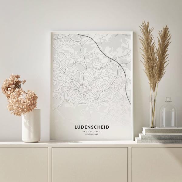City-Map Lüdenscheid im Stil Elegant