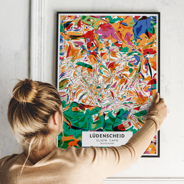 City-Map Lüdenscheid im Stil Kandinsky