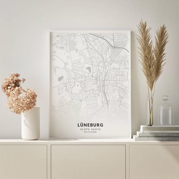 City-Map Lüneburg im Stil Elegant