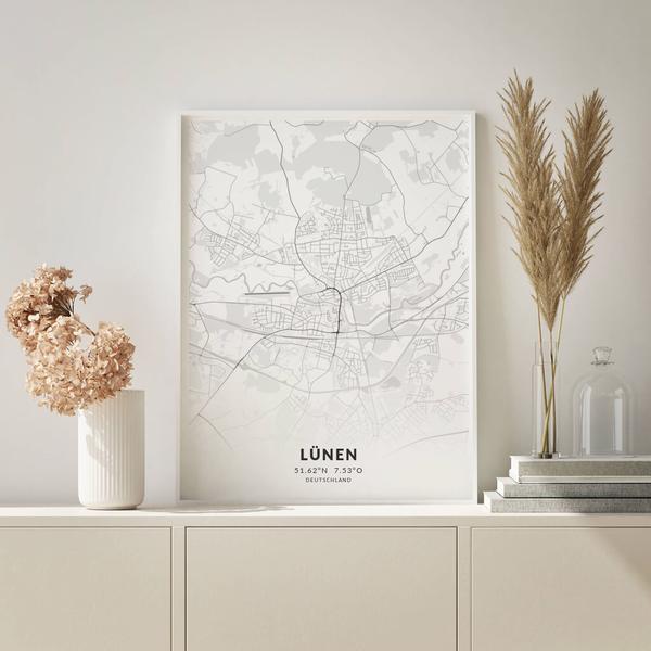 City-Map Lünen im Stil Elegant