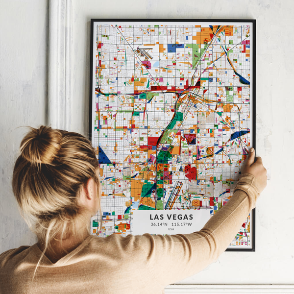 City-Map Las Vegas im Stil Kandinsky