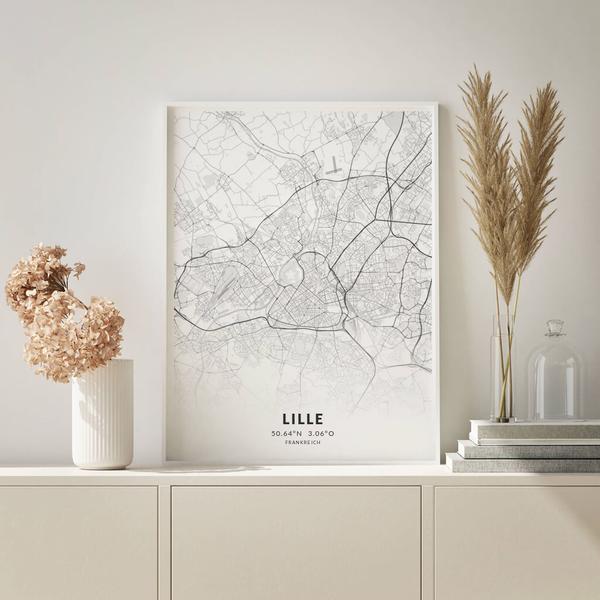 City-Map Lille im Stil Elegant