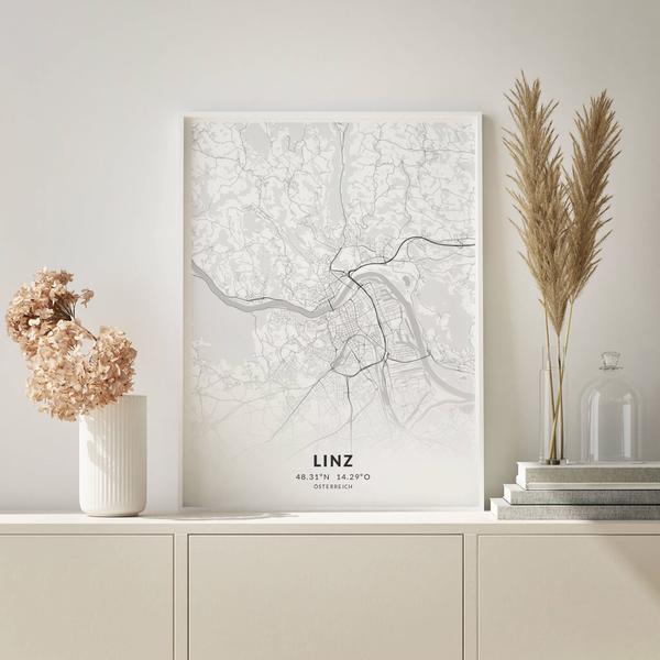 City-Map Linz im Stil Elegant