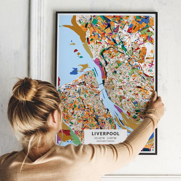 City-Map Liverpool im Stil Kandinsky