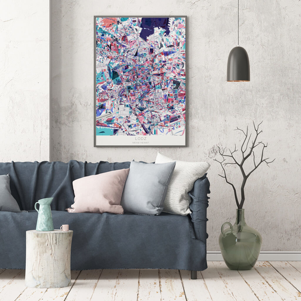 Stadtkarte Lodz im Stil Primavera