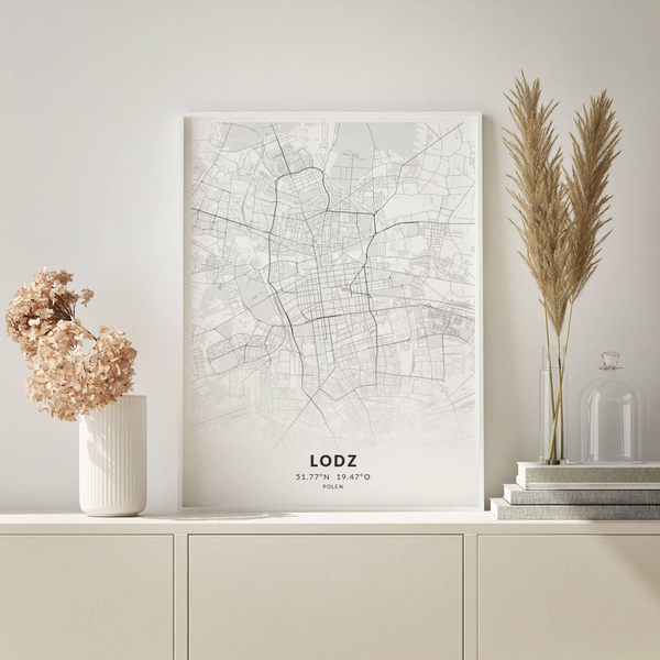 City-Map Lodz im Stil Elegant