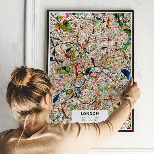 City-Map London im Stil Kandinsky