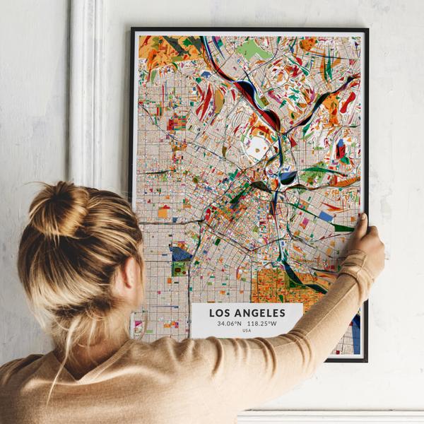 City-Map Los Angeles im Stil Kandinsky