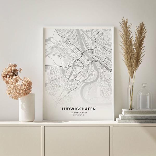 City-Map Ludwigshafen im Stil Elegant