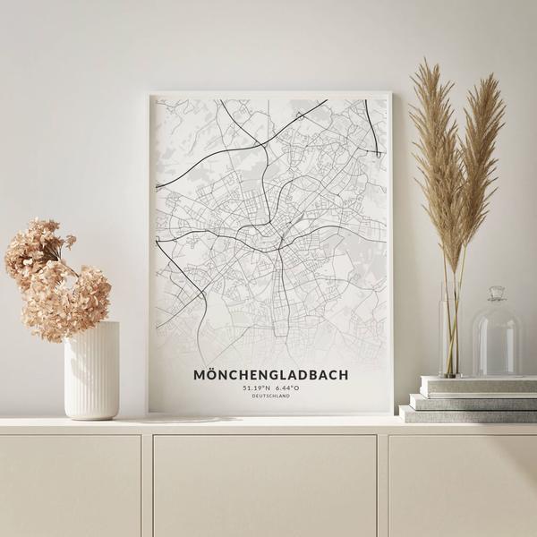 City-Map Mönchengladbach im Stil Elegant