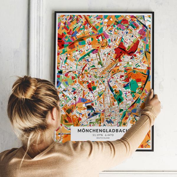 City-Map Mönchengladbach im Stil Kandinsky