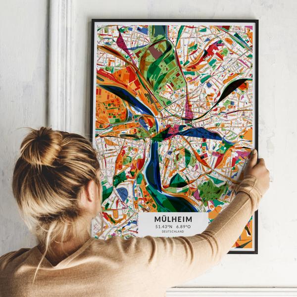 City-Map Mülheim im Stil Kandinsky