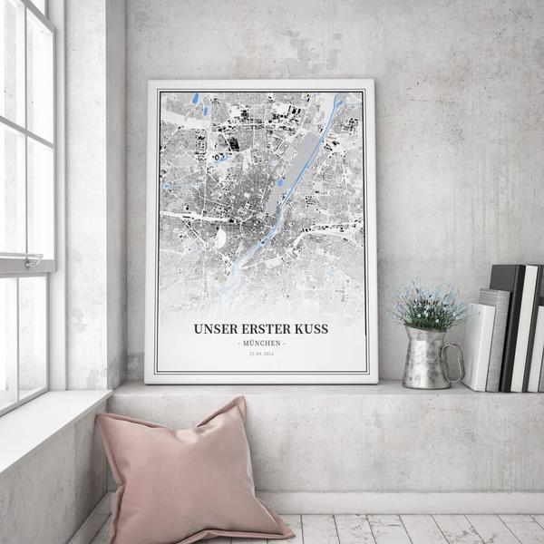 Stadtkarte München im Stil Schwarzplan