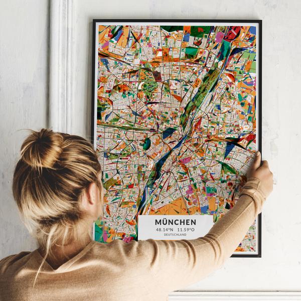 City-Map München im Stil Kandinsky
