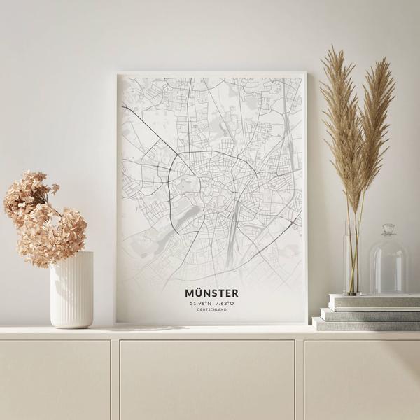 City-Map Münster im Stil Elegant