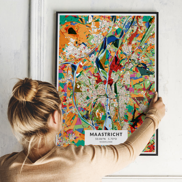 City-Map Maastricht im Stil Kandinsky
