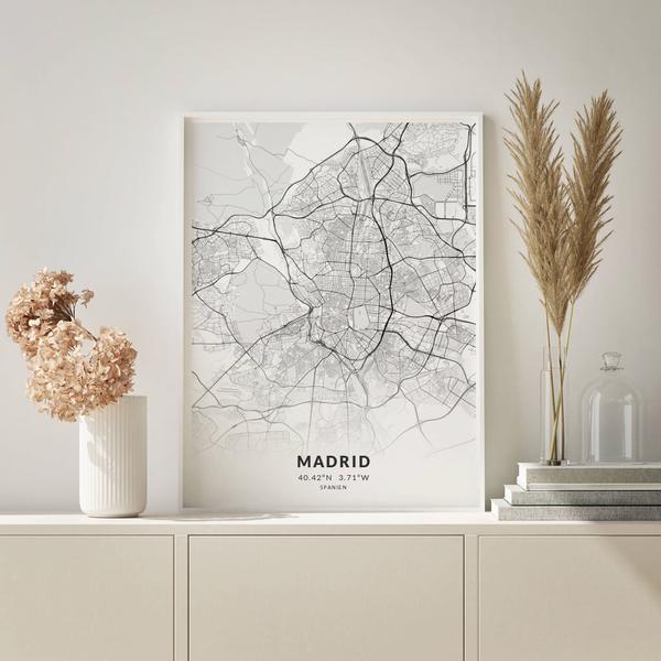 City-Map Madrid im Stil Elegant