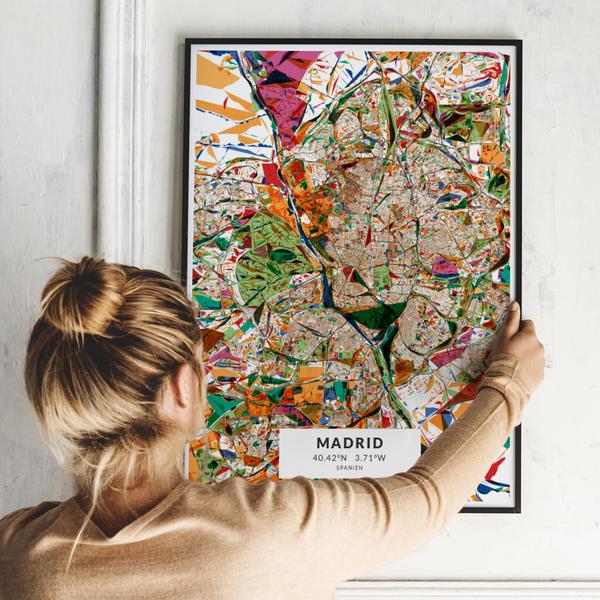 City-Map Madrid im Stil Kandinsky