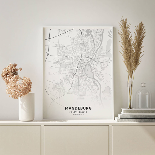 City-Map Magdeburg im Stil Elegant