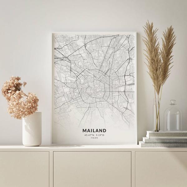 City-Map Mailand im Stil Elegant