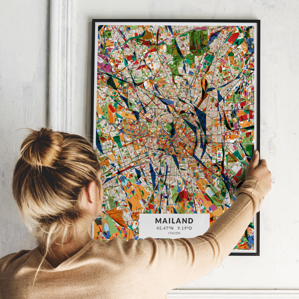 City-Map Mailand im Stil Kandinsky