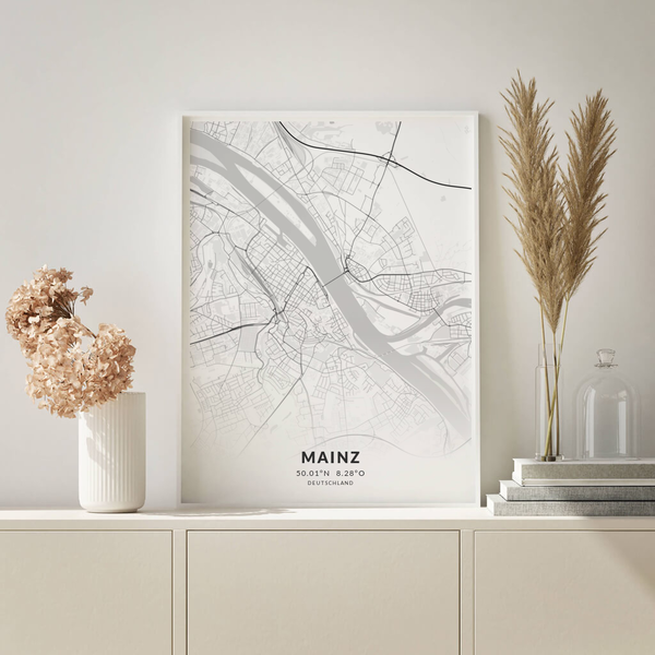 City-Map Mainz im Stil Elegant