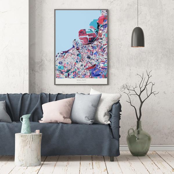 Stadtkarte Malmö im Stil Primavera