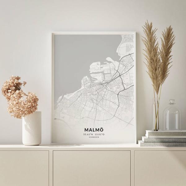 City-Map Malmö im Stil Elegant