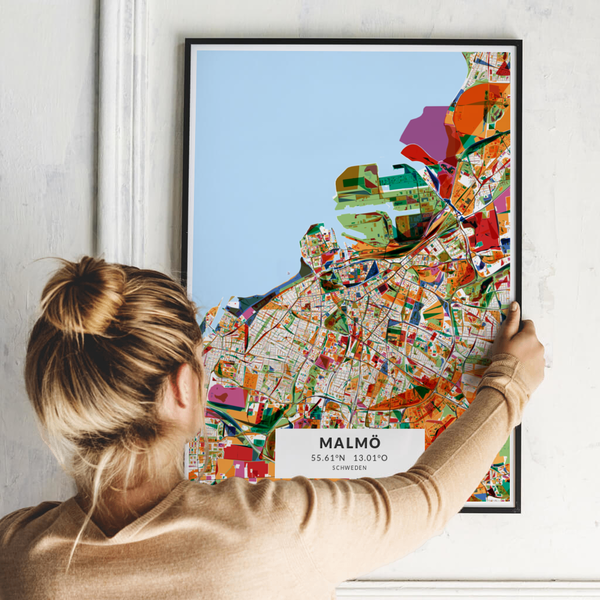 City-Map Malmö im Stil Kandinsky