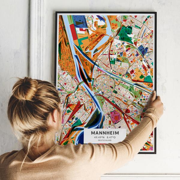 City-Map Mannheim im Stil Kandinsky