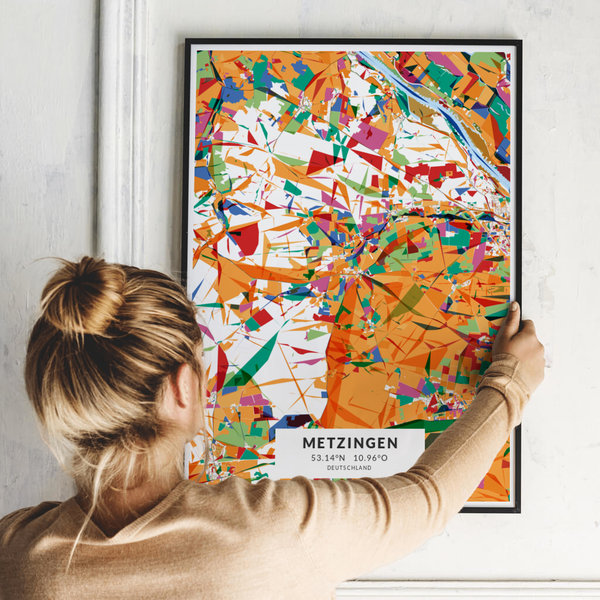 City-Map Metzingen im Stil Kandinsky