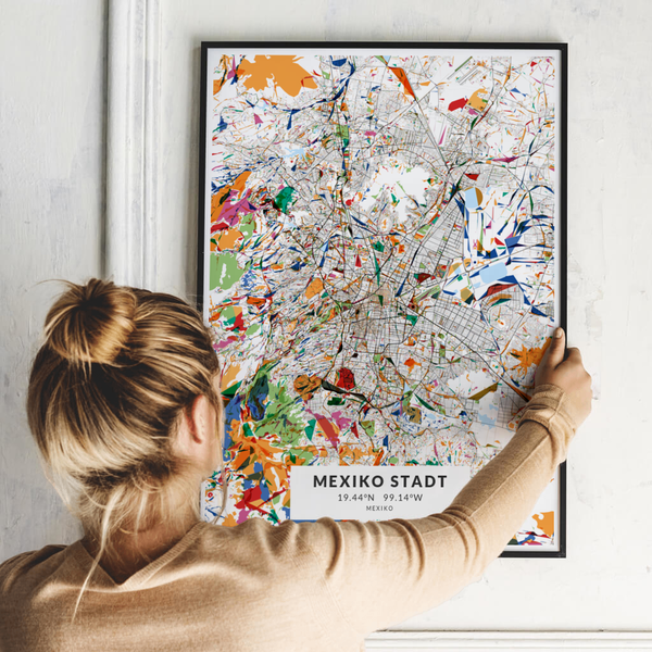 City-Map Mexiko Stadt im Stil Kandinsky
