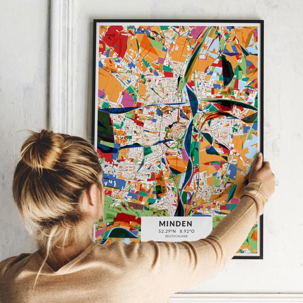 City-Map Minden  im Stil Kandinsky