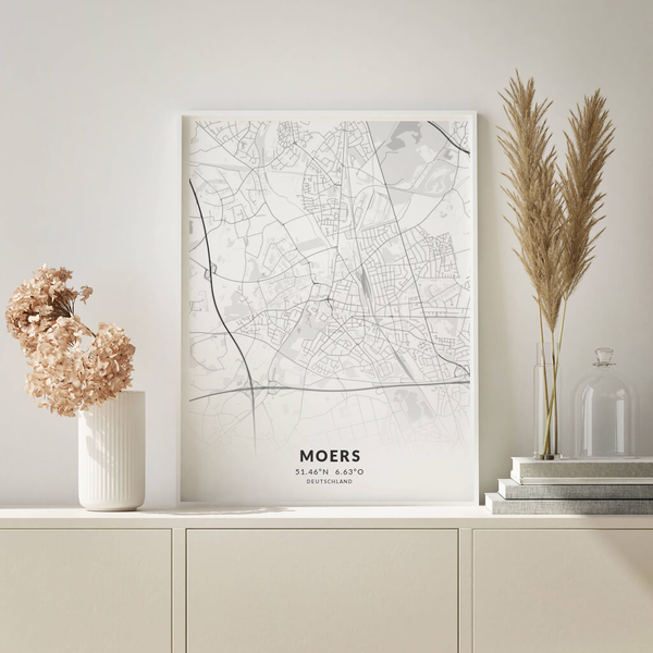 City-Map Moers im Stil Elegant