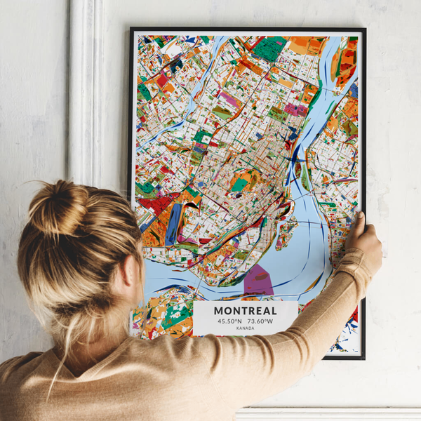 City-Map Montreal im Stil Kandinsky