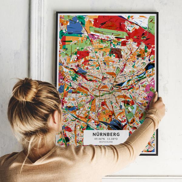 City-Map Nürnberg im Stil Kandinsky