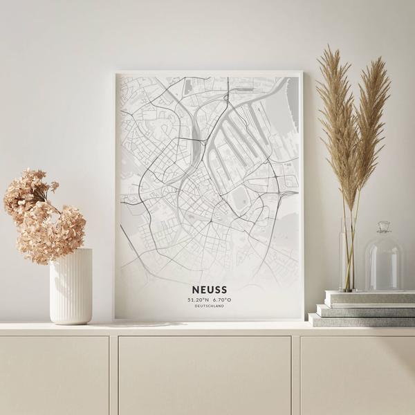 City-Map Neuss im Stil Elegant
