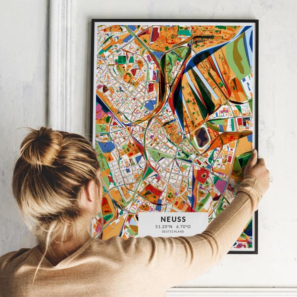 City-Map Neuss im Stil Kandinsky