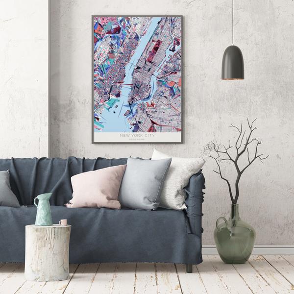 Stadtkarte New York City im Stil Primavera