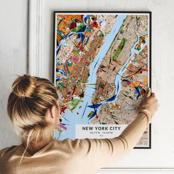 City-Map New York City im Stil Kandinsky
