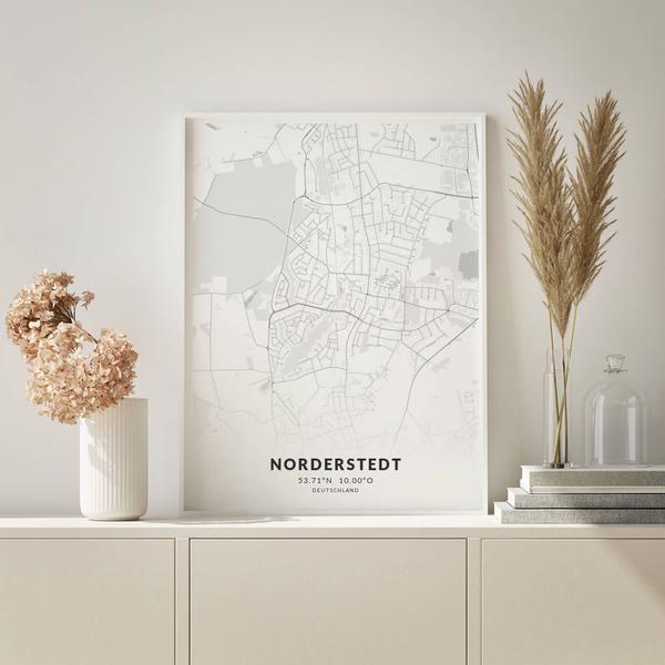 City-Map Norderstedt im Stil Elegant