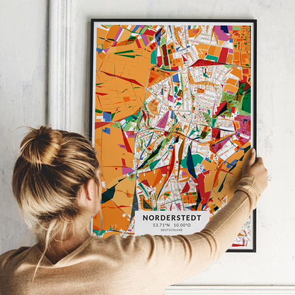 City-Map Norderstedt im Stil Kandinsky