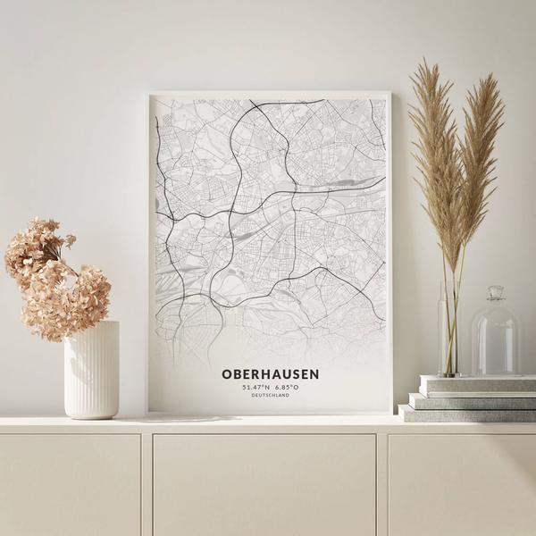 City-Map Oberhausen im Stil Elegant