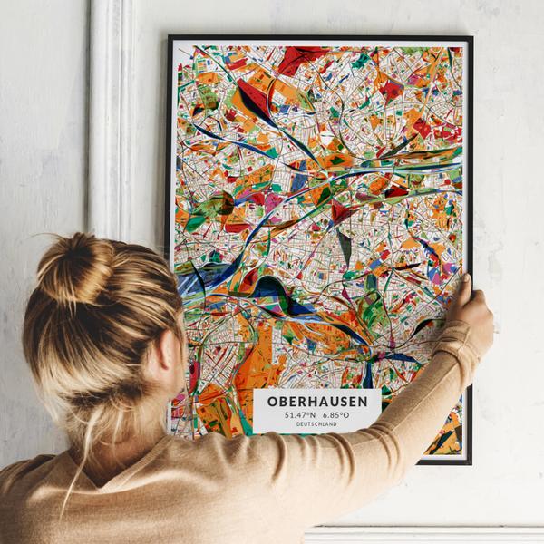 City-Map Oberhausen im Stil Kandinsky