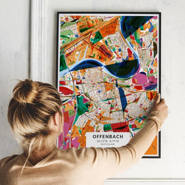 City-Map Offenbach im Stil Kandinsky