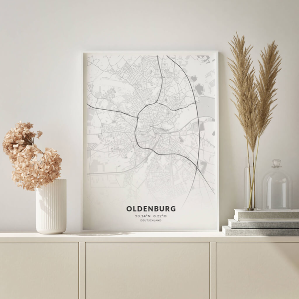 City-Map Oldenburg im Stil Elegant
